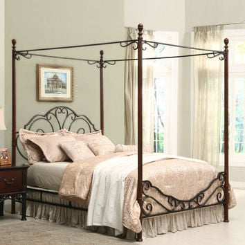 Bronze Metal Canopy Bed