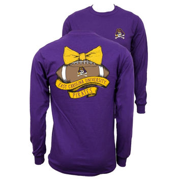 Southern Couture East Carolina ECU Pirates Vintage Football Long Sleeve T-Shirt