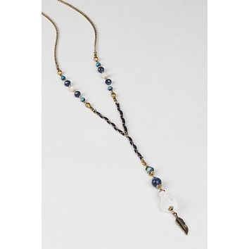 Intricate Raw Crystal Necklace | Blue