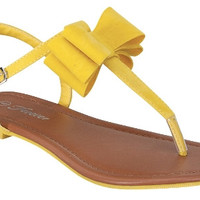 Bow Sandals - Yellow *FINAL SALE!*