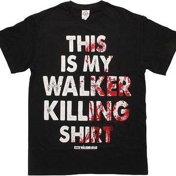 WALKING DEAD THIS IS MY WALKER KILLING SHIRT - BLACK Adult T-Shirt S-2XL