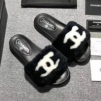 CHANEL Rihanna Fenty Leadcat Fur Slipper Shoes