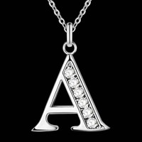 Letter Necklace - A thru S