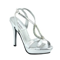 Silver prom shoes | Prom dresses | Prom shoes | Cheer by Dyeables 26513 Silver Platform Sandal | GownGarden.com