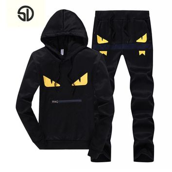 SportSuit Men Casual Men's Sportswear Luxury Brand Mens Tracksuit Set Sweatshirt Survetement Jogger Homme Marque Hoodies Men