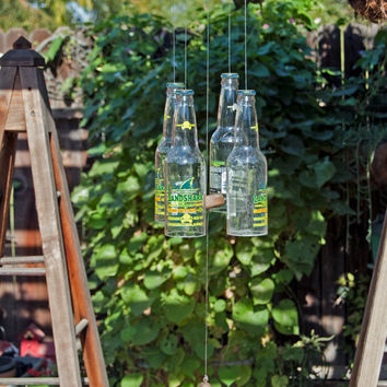 Landshark Four Beer Bottle Wind Chime
