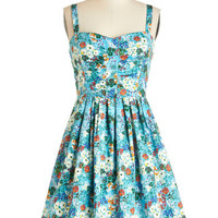 ModCloth Mid-length Sleeveless A-line Mount Desert Dreaming Dress in Floral