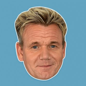 Cool Gordon Ramsay Mask - Perfect for Halloween, Costume Party Mask, Masquerades, Parties, Festivals, Concerts - Jumbo Size Waterproof Laminated Mask