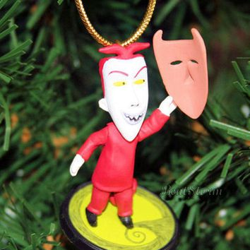 Licensed cool NEW Disney NIGHTMARE BEFORE Christmas LOCK HENCHMAN MASK Holiday Ornament PVC
