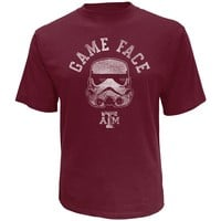 Star Wars College Texas A&M Aggies Stormtrooper Game Face Tee - Men