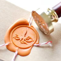 Octopus Gold Plated Wax Seal Stamp x 1
