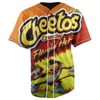Flamin' Hot Cheetos Button Up Baseball Jersey