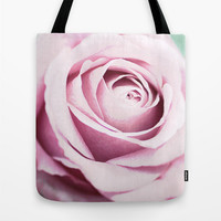 Light Rose Tote Bag, Flower Tote Bag, Floral Tote bag, Messenger, Handbag, Trendy Beach Bag