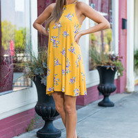 The Clarissa Dress, Mustard