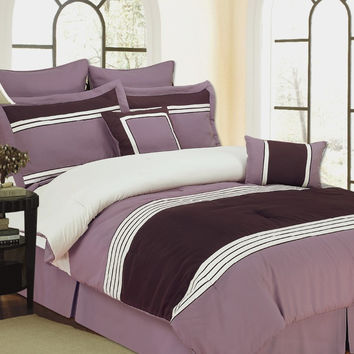 8pc  Wly Plum Comforter Set Size: Cal King