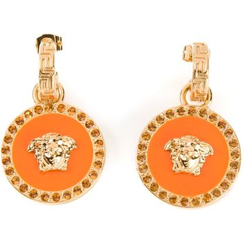 Versace Lacquered Medusa Earrings