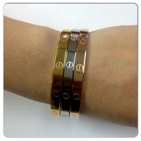 Cartier Love Bangle Screw Bracelet // Available in Silver, Gold, Rose Gold