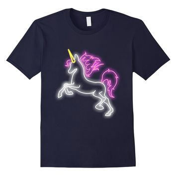 Girls Cute Neon Unicorn Retro Best Friends T-shirt