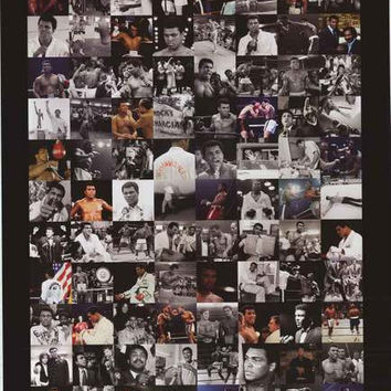 Muhammad Ali Photo Montage Poster 24x36