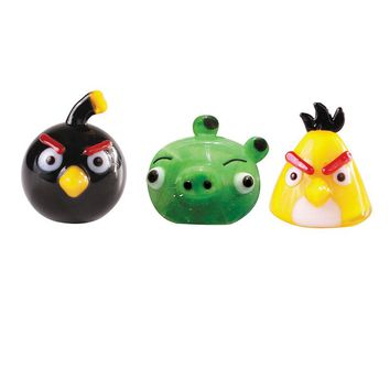 Glass World 3-pk. Angry Birds Mini Figurines (Black/Yellow)