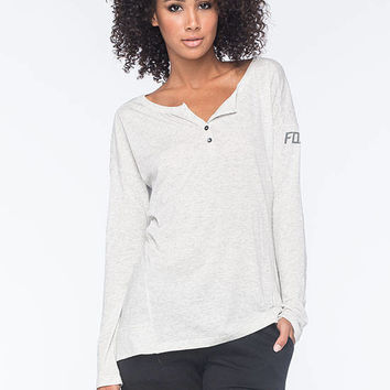 Fox Foraging Womens Henley Gray  In Sizes