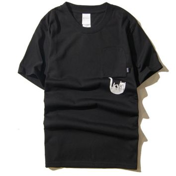 """Lord Nermal""print cat Men's clothingwith short sleeves"