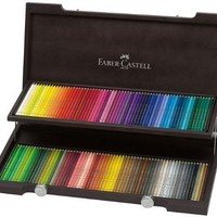 FABER- CASTELL - POLYCHROMOS - ARTISTS COLOURED PENCILS - DELUXE 120 WOODEN BNIB