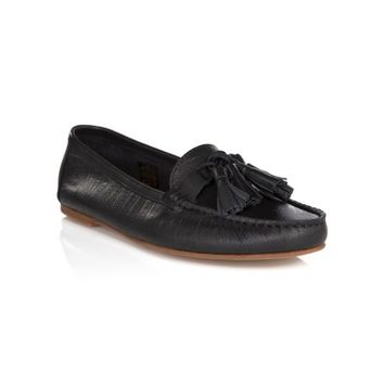 Hudson Black Leather Aurora Shoes