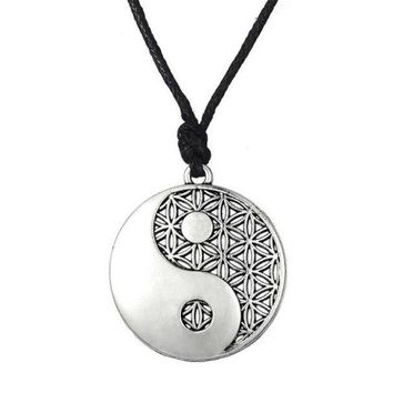 Dawapara Supernatural Knot Male Flower of Life Necklace Men Pendant Egyptian Jewelry Tai Chi Mandala Women Collar