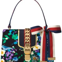 Gucci Small Floral Print Leather Shoulder Bag | Nordstrom