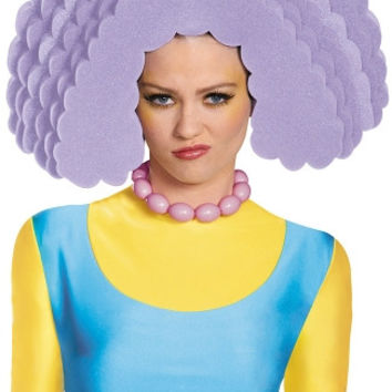 Simpsons Selma Foam Wig