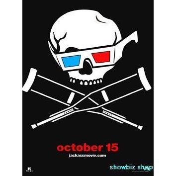 Jackass 3D Movie poster Metal Sign Wall Art 8in x 12in