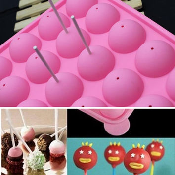 SILICONE NON STICK CAKE POP SET BAKING TRAY MOLD BIRTHDAY PARTY COOKWARE ZH041