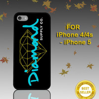 Diamond Supply Black - Photo on Hard Cover - For iPhone Case ( Select An Option )