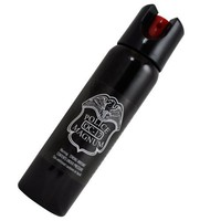 Police Magnum Pepper Spray with UV Dye and Twist Top, Black, 4-Ounce