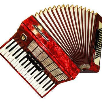 German Weltmeister Stella, 80 Bass, 8 Registers, Piano Accordion Instrument, 503