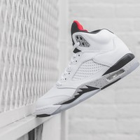 Nike GS Air Jordan 5 - White Cement