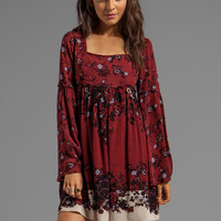 Free People Modern Chinoiserie Dress in Merlot Combo from REVOLVEclothing.com
