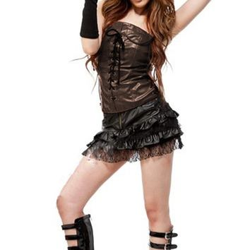 Atomic Brown and Black Cowgirl Costume