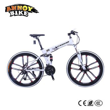 26 inch Aluminum alloy 21/24/27 speed Double disc brake bicycle Double shock absorption Oil spring fork Folding mountain bike