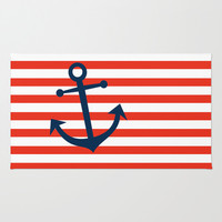 Nautical Anchor Rug by All Is One