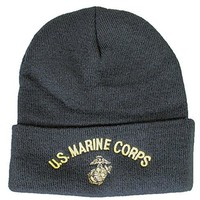 U.S. Marine Corps Knit Cap (Watch Cap), Black, OS