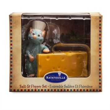 Disney Ratatouille Remy Cheese Salt and Pepper Set New with Box