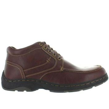 CREYONIG Deer Stags Waverly - Redwood Leather Lace-Up Moc Boot