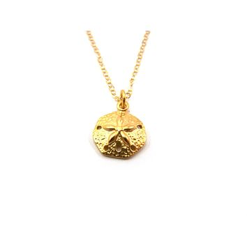 Sand Dollar Charm 14k Gold Fill Necklace