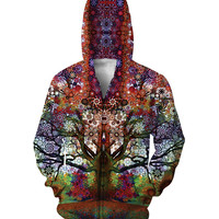 Trip Tree Zip-Up trippy 3d Print Women Men Casual Zipper Outfits Coats 5XL