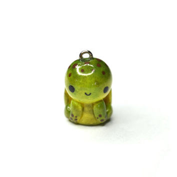 Sea Turtle Animal Charm - Kawaii Polymer Clay