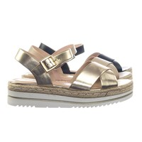 Picnic by Soda Rubber Espadrille Multi Layered Flatform Open Toe Ankle Strap Sandal