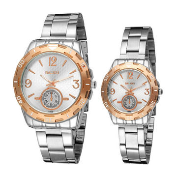Lover Casual Sports Watches Men Women Steel Strap Watch for Couple Best Christmas Gift