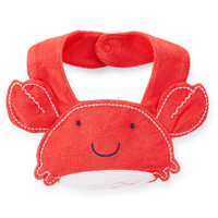 Crab Terry Teething Bib